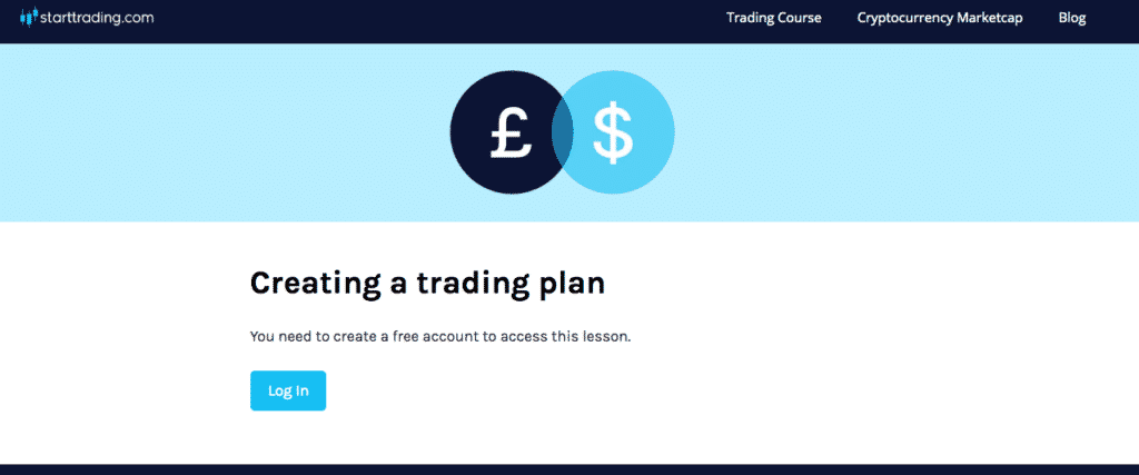 Starttrading lesson page protection