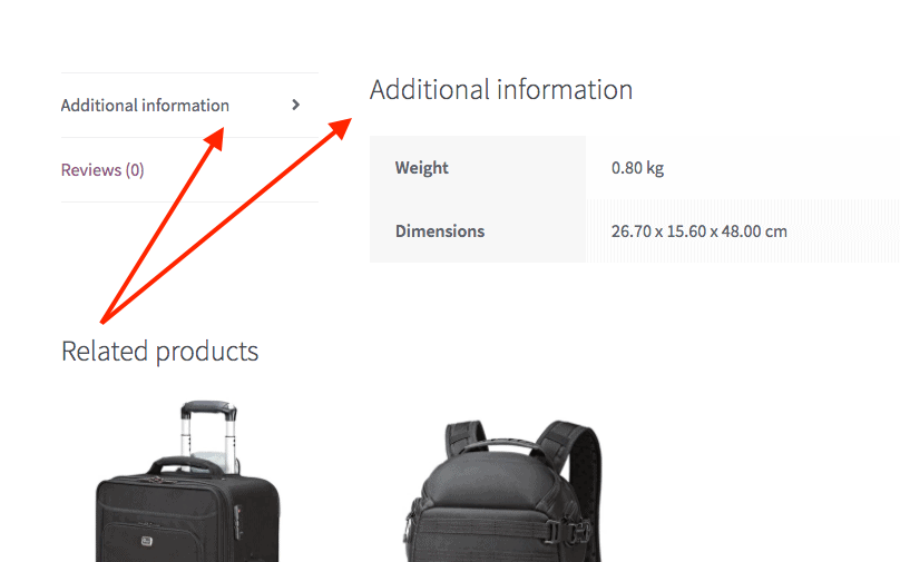 WooCommerce Additional Information Tab